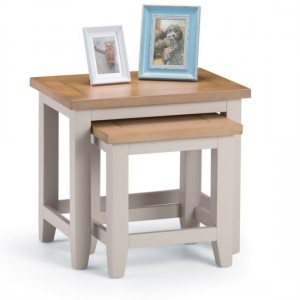 Richmond Wooden Nest Of Tables In Elephant Grey