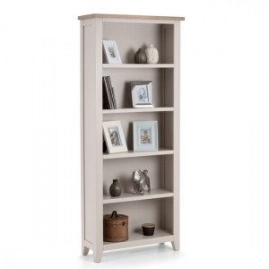 Richmond Wooden Tall Bookcase In Elephant Grey