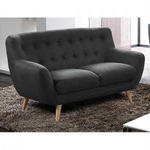 Rihanna Fabric 2 Seater Sofa In Grey