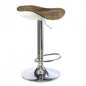 Ripley Textilene Bar Stool In Brown With Chrome Base