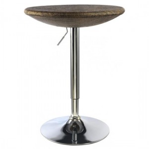 Ripley Textilene Bar Table In Brown With Chrome Base