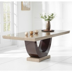 Rivilino 170cm Marble Rectangular Dining Table In Brown