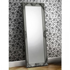 Rococo Lean-to Dress Mirror In Pewter Effect