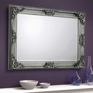 Rococo Wall Mirror In Pewter Effect