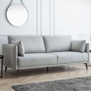 Rohe Platinum Wool Effect 3 Seater Sofa In Grey