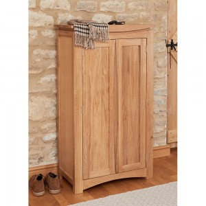 Roscoe Contemporary Wooden Shoe Storage Cabinet In Oak