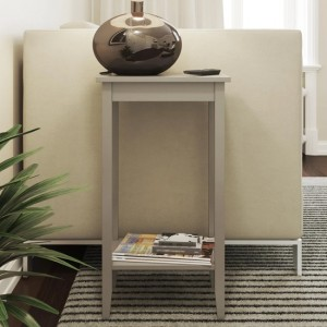 Rosewood Tall Lamp Table In Grey