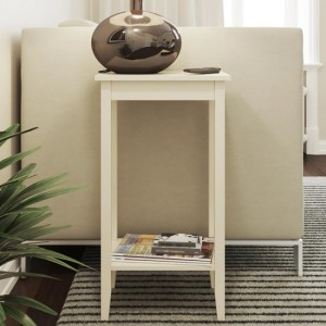 Rosewood Tall Lamp Table In White