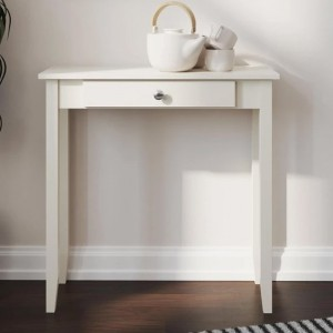 Rosewood Wooden Console Table In White