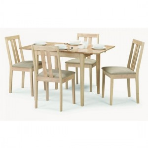 Rufford Extending Wooden Dining Table In Natural With 4 Chairs