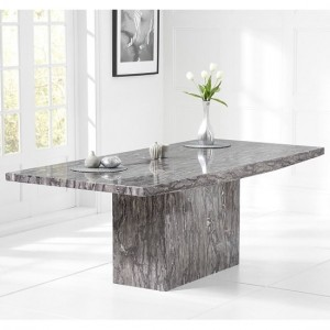 Venezia Marble Extra Large Dining Table Rectangular In Grey