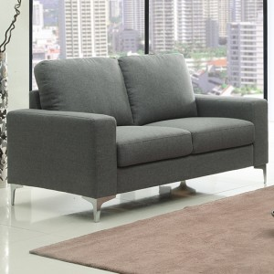 Sally Linen Fabric 2 Seater Sofa In Grey