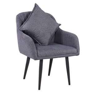 Sandlewood Fabric Sofa 1 Seater Sofa In Grey With 1 Cushion