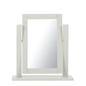 Sandringham Dressing Table Mirror In Grey Wooden Frame