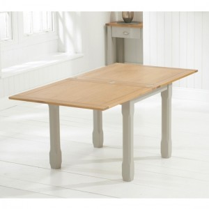 Sandringham Flip Top Dining Table In Oak And Grey