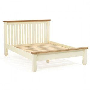 Sandringham Wooden King Size Bed In Oak And Cream