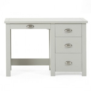 Sandringham Single Pedestal Dressing Table In Grey