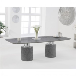 Santiago Extra Large Marble Dining Table In Grey