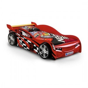 Scorpion Wooden Racer Kids Single Bed In Red High Gloss
