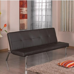 Seattle PU Leather Sofa Bed In Brown