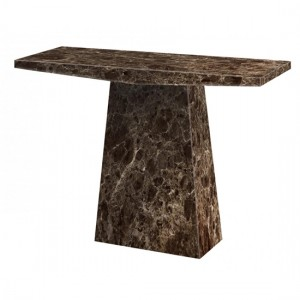 Senegal Marble Console Table In Natural Stone