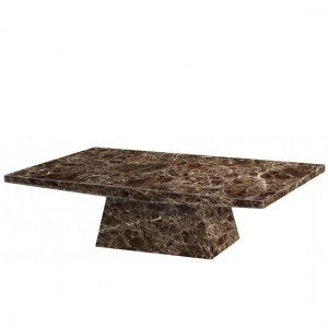 Senegal Marble Rectangular Coffee Table In Natural Stone