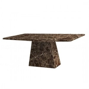 Senegal Marble Rectangular Dining Table In Natural Stone