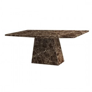 Senegal Natural Stone Marble Dining Table In Lacquer