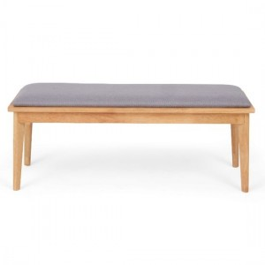 Seth Large Dining Bench In Grey And Oak
