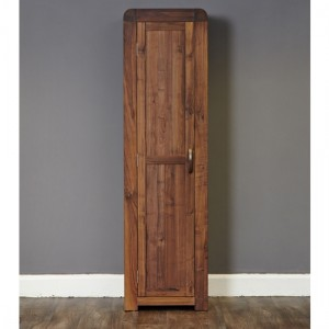 Shiro Tall Wooden Shoe Storage Cabinet In Walnut