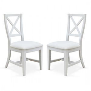 Signature Grey Wooden Dining Chairs In Pair