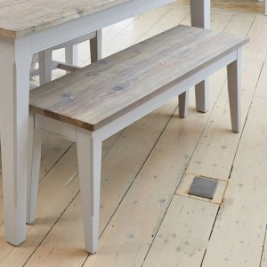 Signature Wooden Dining Bench In Grey And Oak