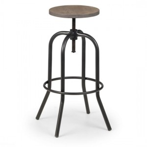 Spitfire Industrial Wooden Bar Stool In Mocha Elm