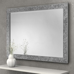 Staccato Fragment Wall Mirror In Silver
