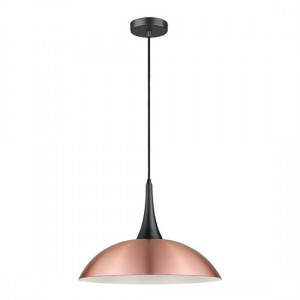 Piautos Luminaire Pendant In Copper And Matt Black