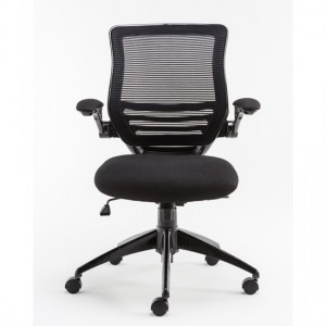 Stanford Mesh Back Fabric Seat Office Chair In Black