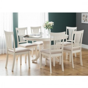 Stanmore Round To Oval Extending Dining Table With 6 Chairs
