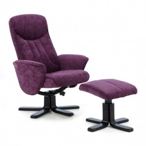 Stavern Amethyst Fabric Swivel Recliner Chair