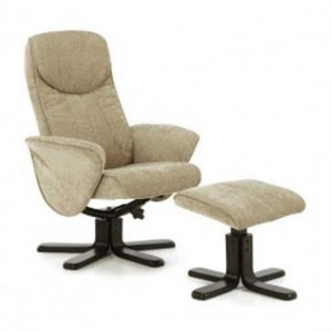 Stavern Fabric Swivel Massage Chair In Mink