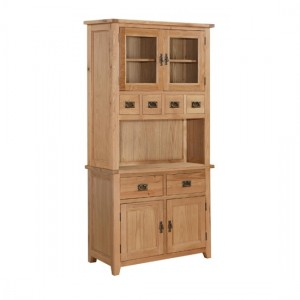 Stirling Large Display Unit In Light Oak With 2 Doors