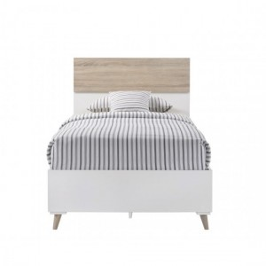 Stockholm Wooden Single Bed In White And Oak