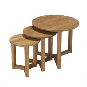 Stow Wooden Nest Of Tables In Oak