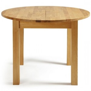 Sutton Round Oak Extending Dining Table