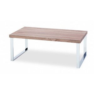 Haven Coffee Table In Natural with Stainless Steel Legs