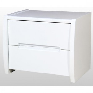 Tanya Wooden Bedside Cabinet In White High Gloss