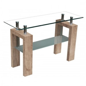 Telford Console Table In Natural High Gloss