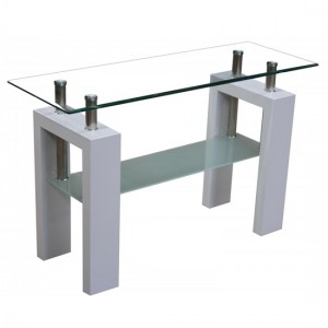 Telford Console Table In White High Gloss