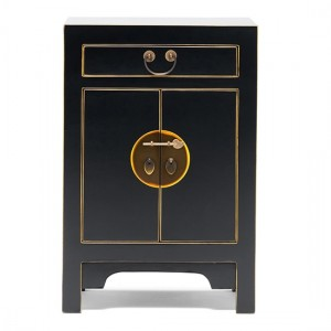 Thenice Qing Small Storage Cabinet In Black And Gold
