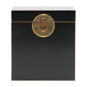 Thenice Qing Storage Trunk In Black And Gold