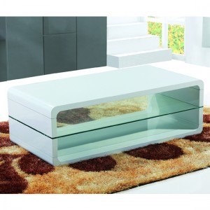Tilton Wooden Coffee Table In White High Gloss